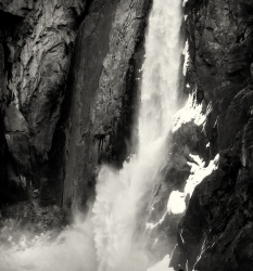 Lower Yosemite Falls in Detail