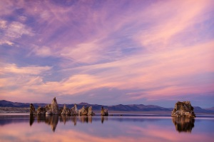 Mono Lake Sunset Reflection